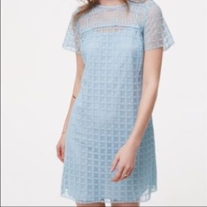 🆕 LOFT 🥀 Light Blue Lace Dress - 0 🥀NWT